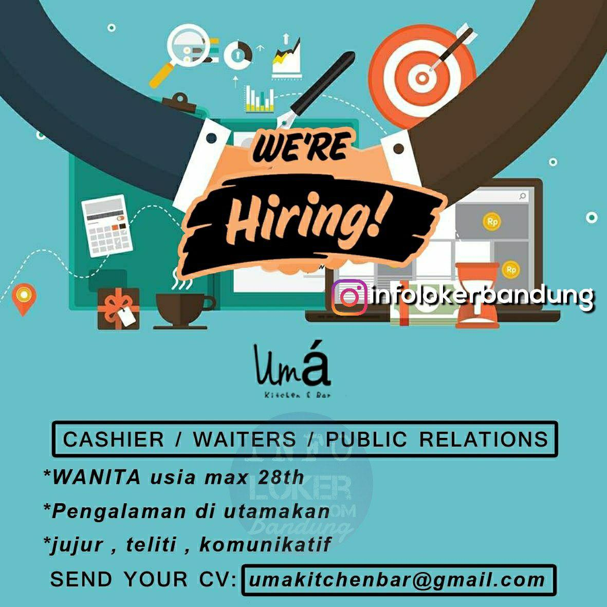 Lowongan Kerja Uma Kitchen & Bar Bandung Juni 2018