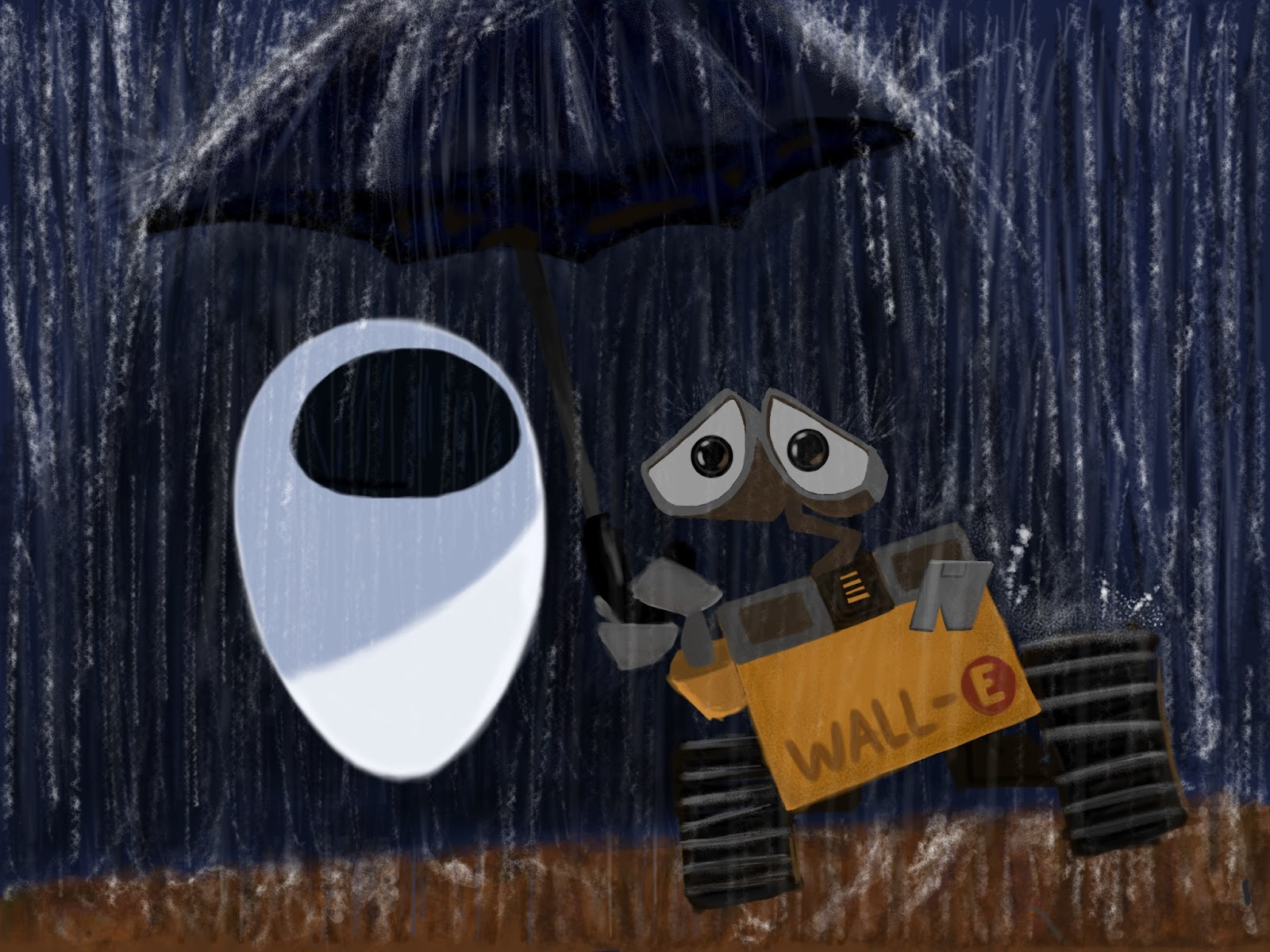 walle fan art using ipad sketchbook pro pixar post
