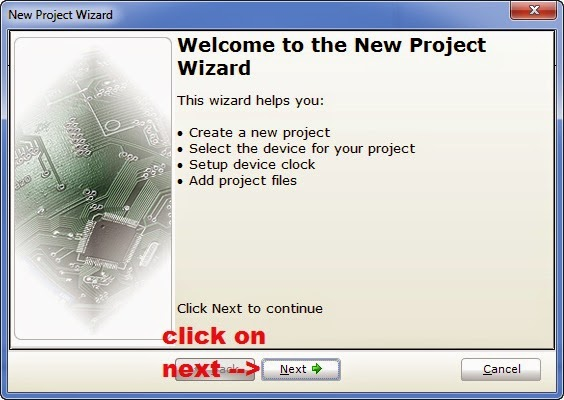 Create New Project in MikroC_1