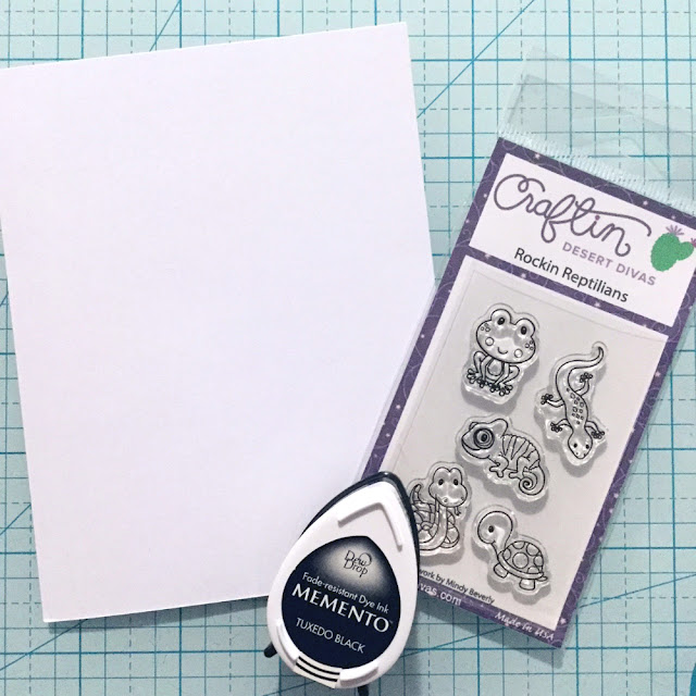 Rockin Reptilians Stamp Set