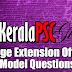 Kerala PSC - Model Questions Village Extension Officer - 01