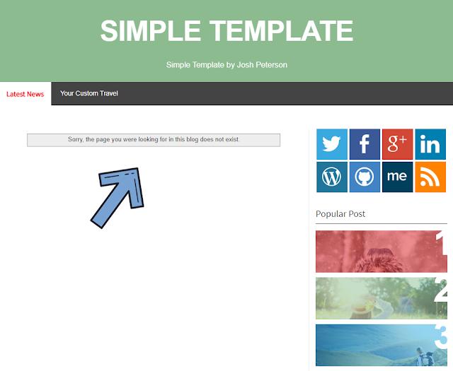 Cara Memasang Halaman Error 404 di Blogger