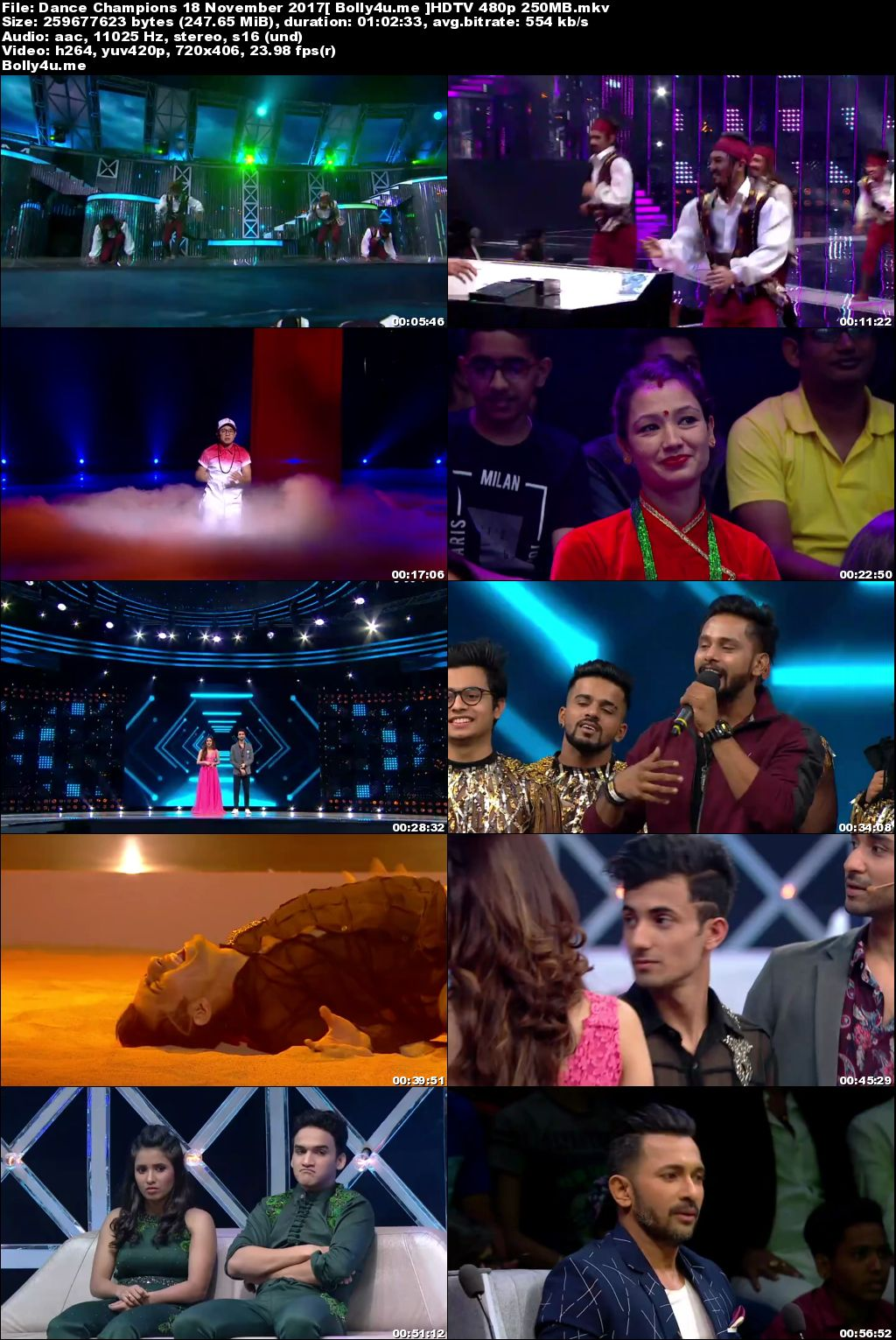 Dance Champions HDTV 480p 250MB 18 November 2017 Download