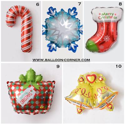Balon Foil Seri Natal Mini Terbaru (2020)