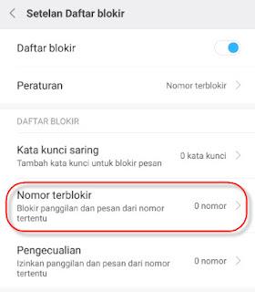 Mengembalikan sms terblokir