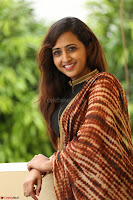 Lasya looks super cute in black choli Saree at Raja Meru Keka Press Meet ~  Exclusive 044.JPG