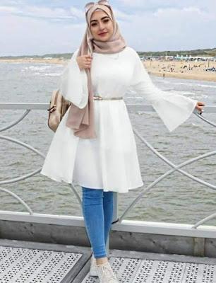 model hijab untuk wajah bulat terbaru