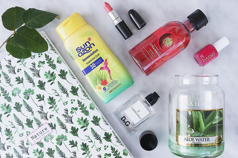 ulubione kosmetyki wakacje 2017