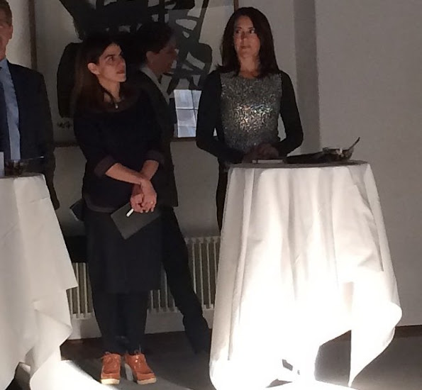 Crown Princess Mary of Denmark attended the New Year Reception organized by Women Deliver Committee at Copenhagen Eigtveds Pakhus Conference Center.