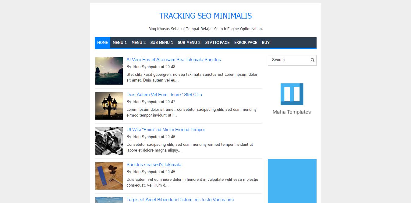 Tracking SEO Minimalis
