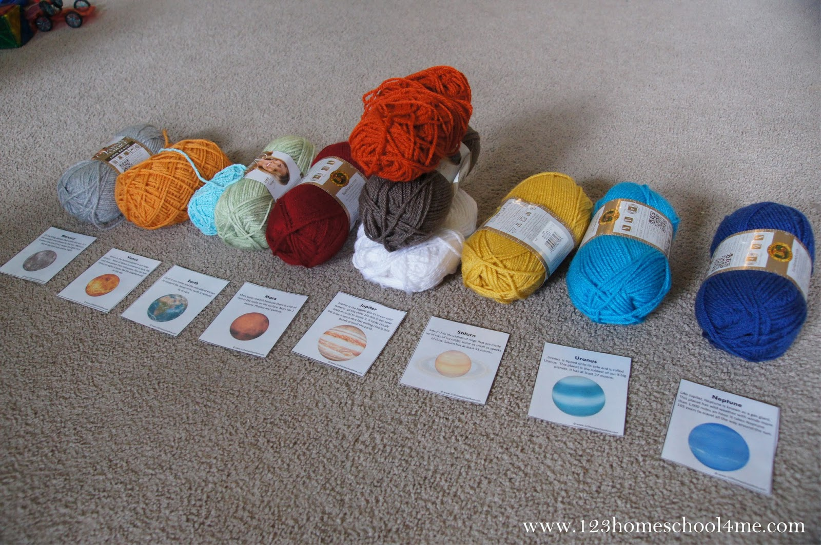 Fun To Make Yarn Solar System Project