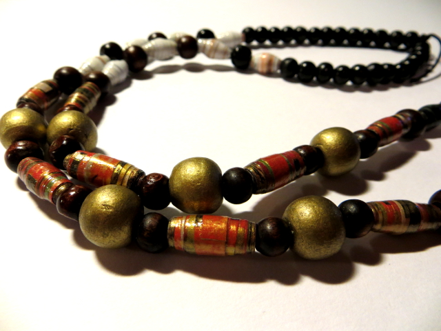 Paper pearl keychain necklace paperihelmi avainketju kaulakoru