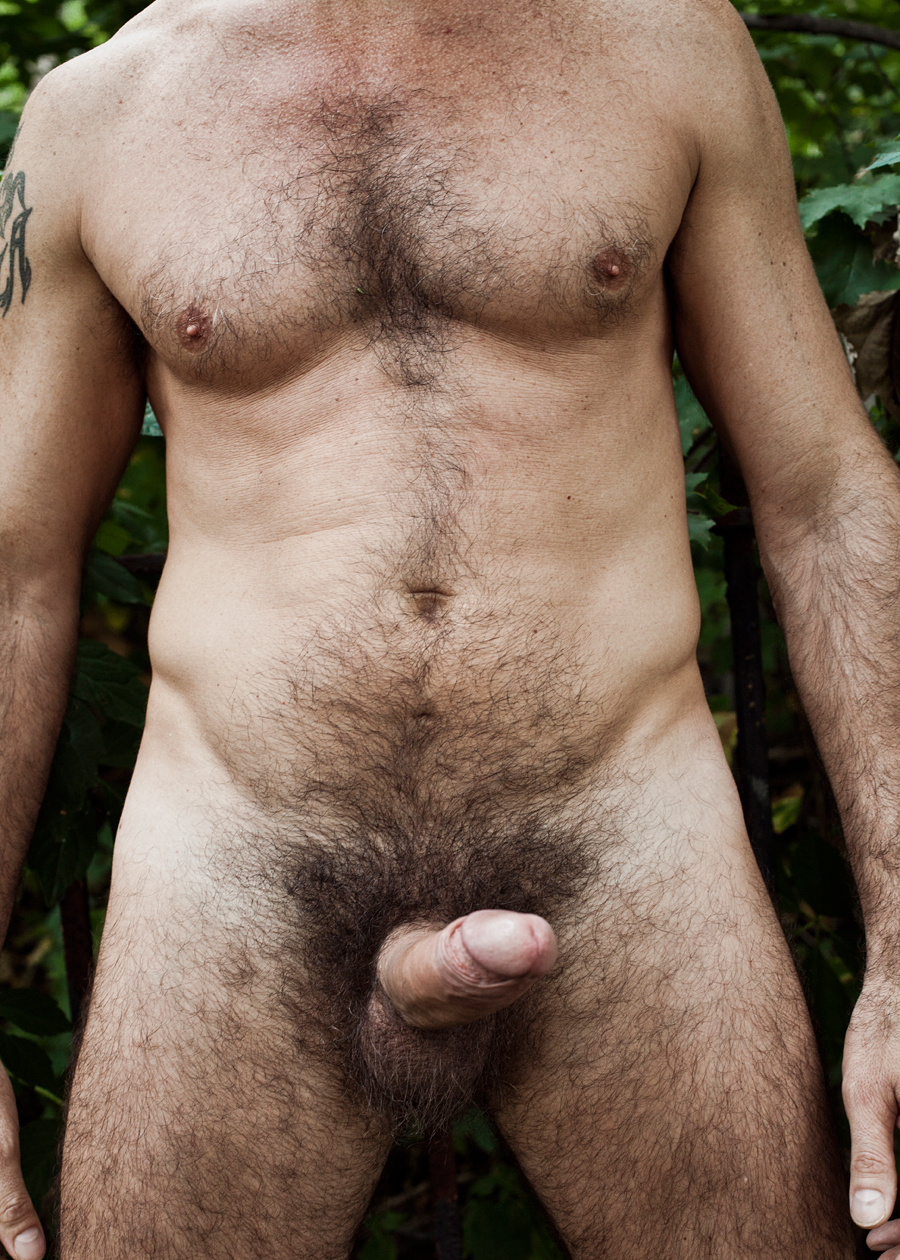 Hot nude jock with a hairy cock