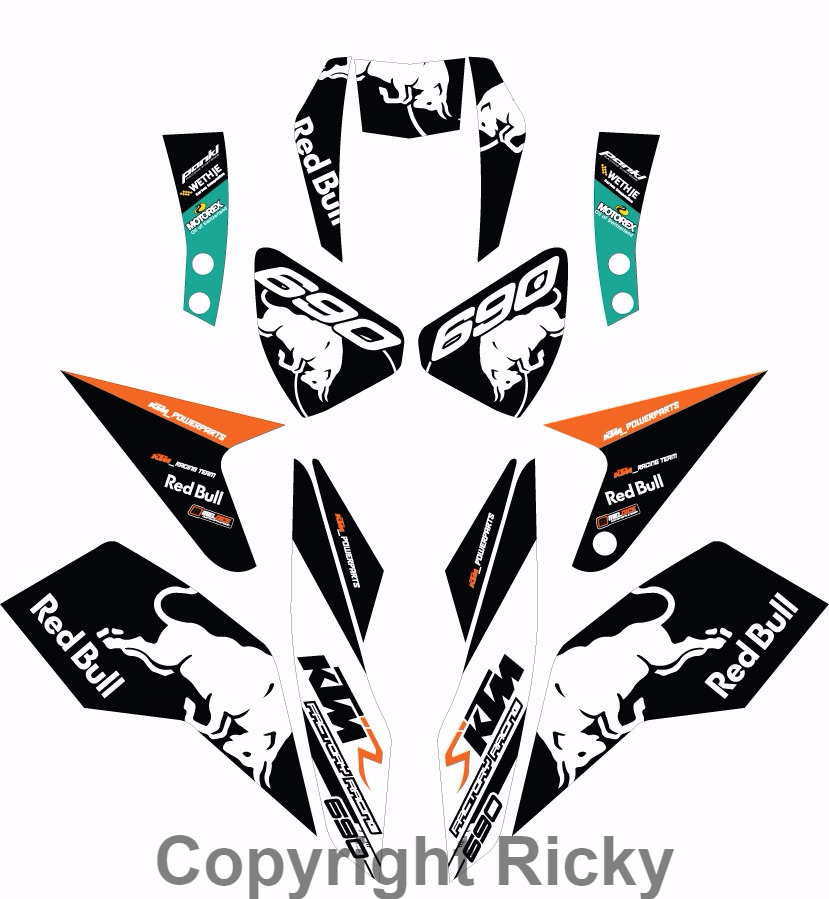 KTM Duke Custom Decals: New Custom Design Graphics KTM