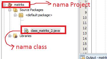 1 - Cara Menciptakan Matriks Dengan Ordo Di Inputkan Di Java