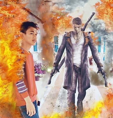 Gambar: Hasil edit (antara berfoto dan aktor game)