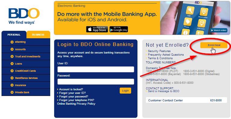 [BDO INTERNET BANKING ENROLLMENT] Experience Hassle-Free Banking 2017 | Wunmanang