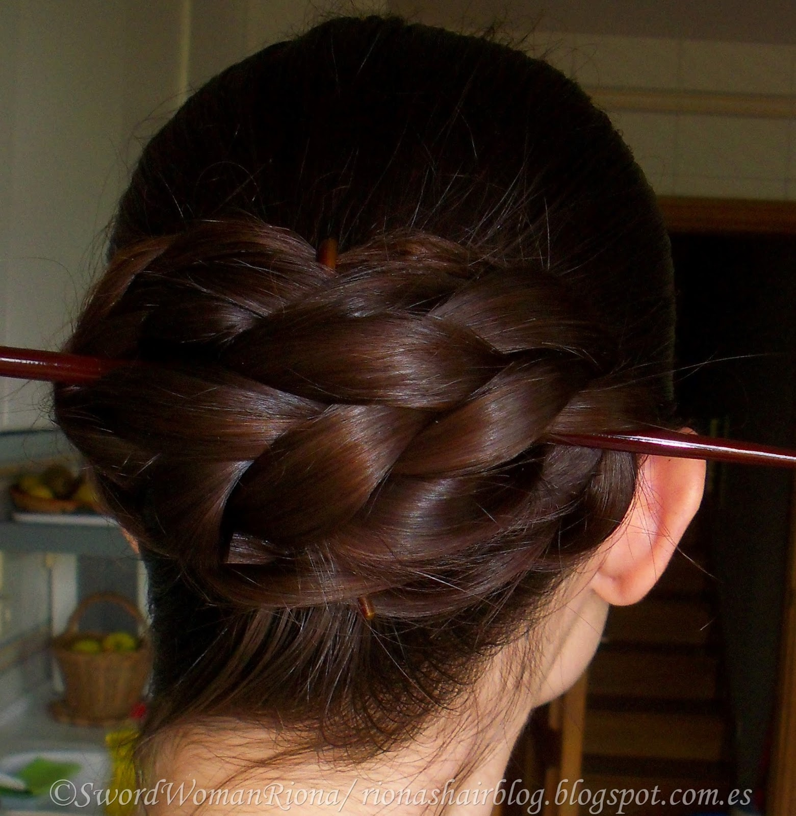 A Sword Woman S Natural Hair Blog One Coil Chinese Braided