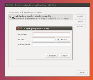 aplicaciones del inicio en Linux Ubuntu