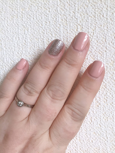 NOTD - Rose Gold Sparkly Nails