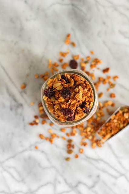 Peanut Butter Harvest Granola   The Chef Next Door #Oatober