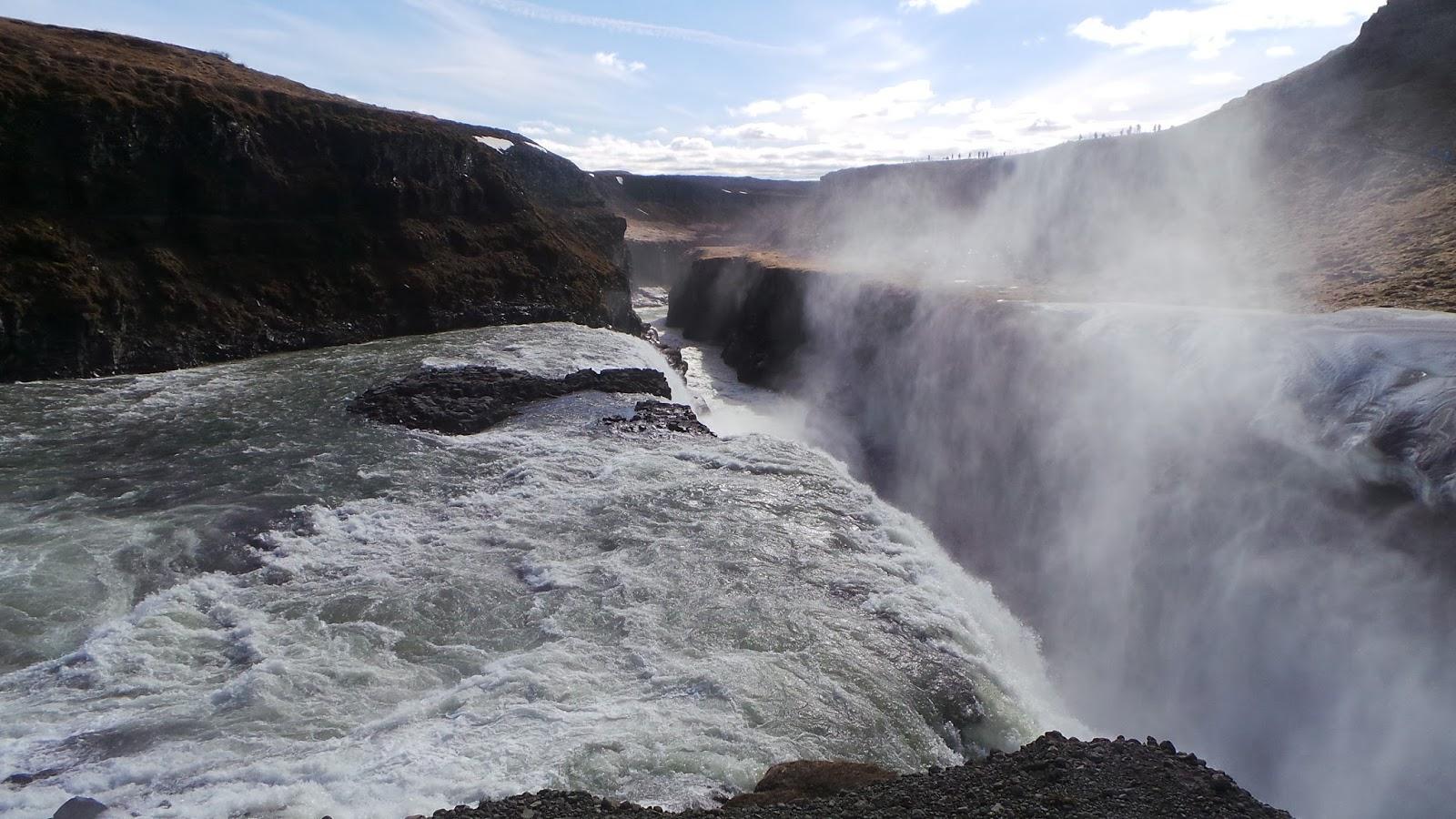 Reykjavik waterfall