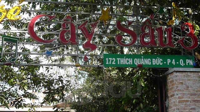 A vegetarian restaurant in Saigon