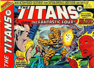 Marvel UK, The Titans #36, Fantastic Four