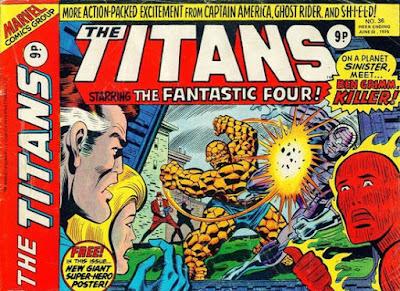 Marvel UK, The Titans #36, Fantastic Four
