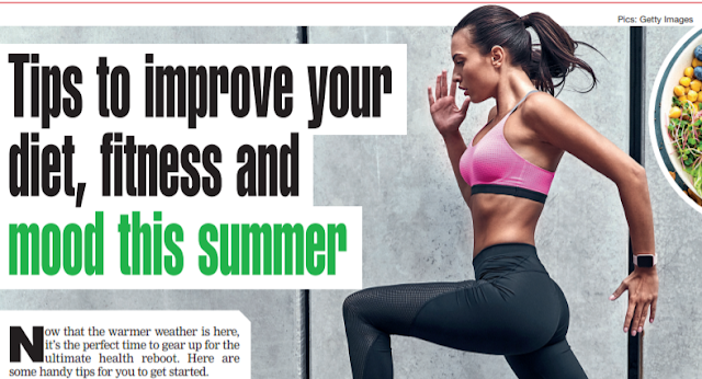 Tips to improve your diet, fitness and mood this summer
