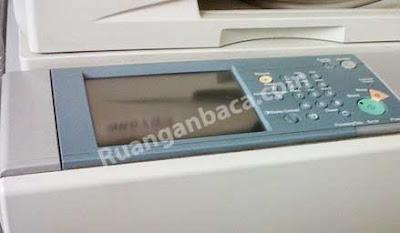 Power Mesin Fotocopy canon IR hidup namun LCD berkedip dan mati