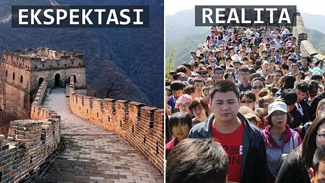 15 Foto Ekspektasi Vs Realita Saat Traveling. Bikin Kecewa!