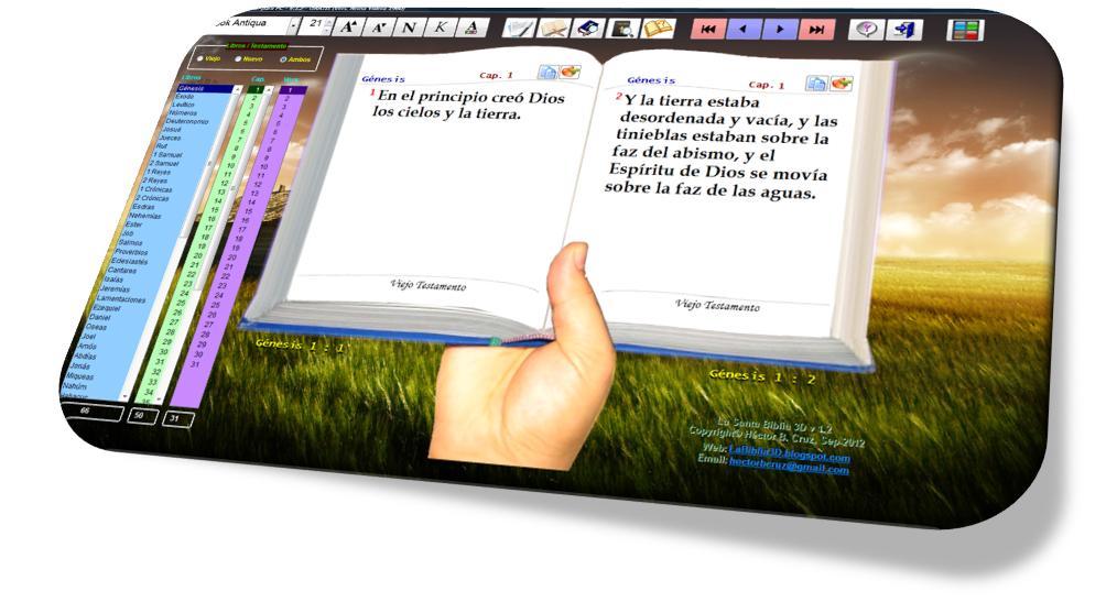 La Santa Biblia 3d Para Pccelularestabletas Español Inglés