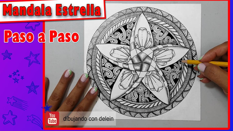 Dibujando Con Delein Como Hacer Una Libreta De Dibujo: Dibujando Con Delein: Como Dibujar Un Mandala Zendala Paso