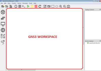 GNS3 Workspace belajar jaringan komputer