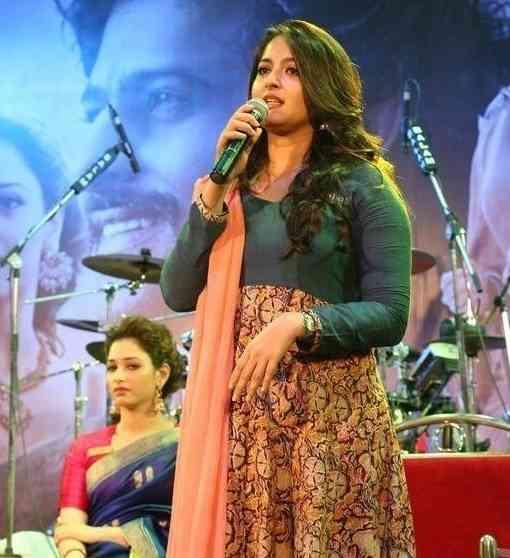 Anushka Shetty At Bahubali Malayalam Audio Launch Photos