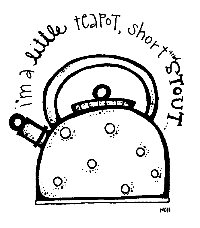 i am a little teapot coloring pages - photo #29