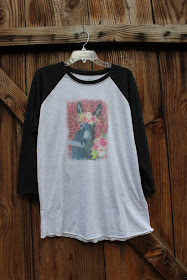 Donkey with Flower Crown graphic t shirt