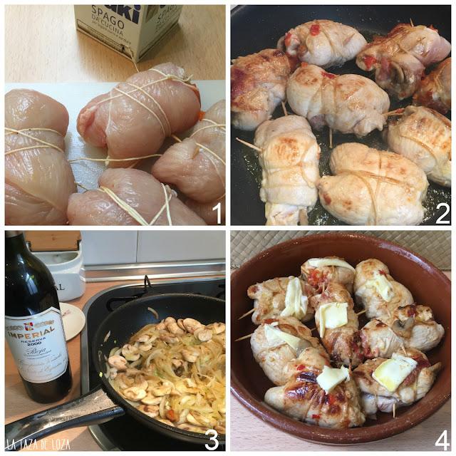 pasos-de-cocción-de-los-rollitos-de-pollo-rellenos