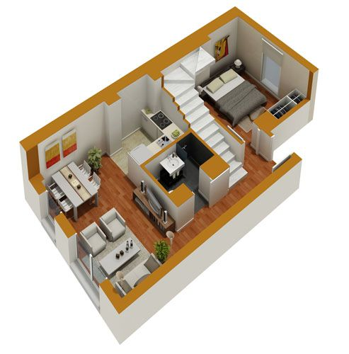 3D Duplex House Floor Plans, That Will Feed Your Mind