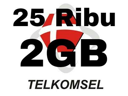 Paket Internet Murah 2GB Cuma 25rb Telkomsel Terbaru