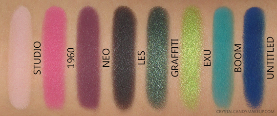 UD Jean-Michel Basquiat Collection Urban Decay Swatches Tenant Eyeshadow Palette