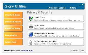 Download Glary Utilities, the all in one free