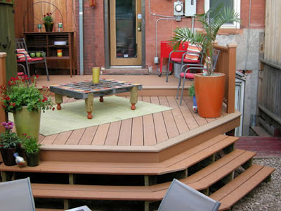 Beautiful urban deck design idea