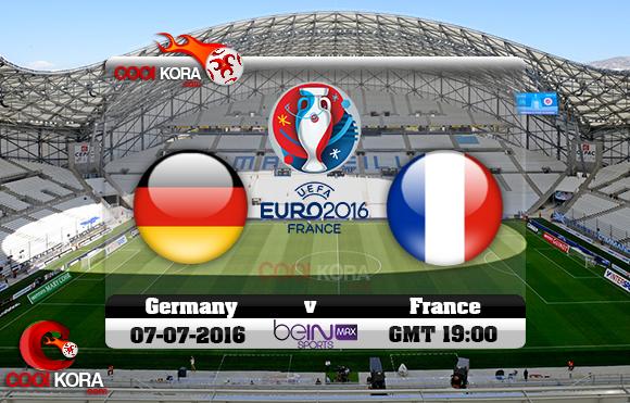 مشاهدة مباراة ألمانيا وفرنسا اليوم 7-7-2016 بي أن ماكس يورو 2016