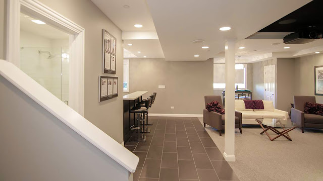 Comfortable Contemporary Basement Finishing System