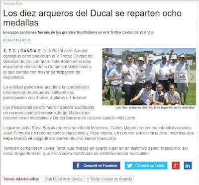 Ducal ARch en la web de Levante EMV