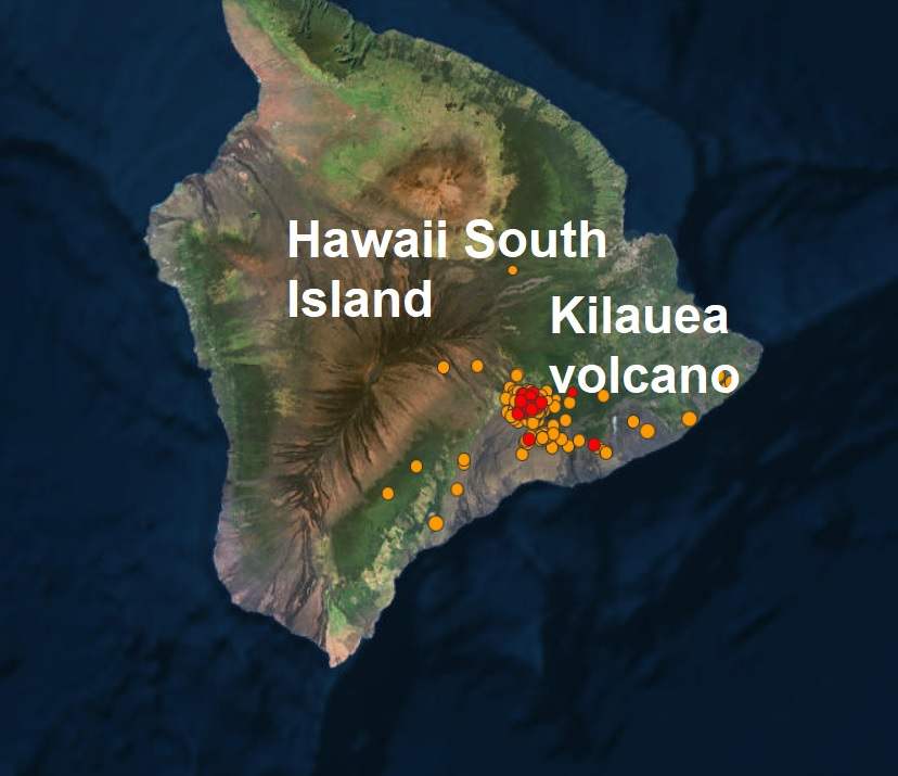 After-shock warning for Hawaii residents after a resurgence of nearly 400 quakes in a 24 hour period around volatile Kilauea volcano  Naamloos