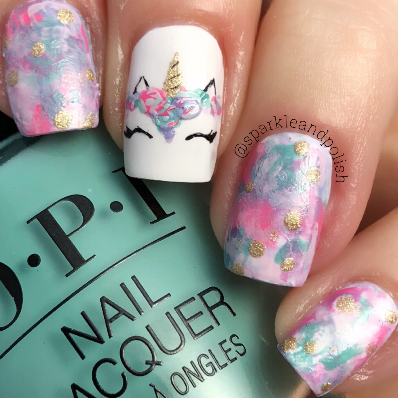 A Little Sparkle and Polish - A Little Sparkle And Polish: Unicorn Nail Art