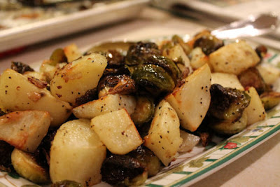 Roasted Brussels Sprouts with Potatoes